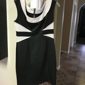 Black and White Cocktail dress tight